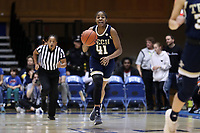 DURHAM, NC - JANUARY 26: Kierra Fletcher #41 of Georgia Tech brings the ball up the court during a game between Georgia Tech and Duke at Cameron Indoor Stadium on January 26, 2020 in Durham, North Carolina.
