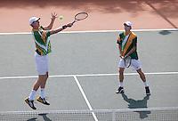 09-07-11, Tennis, South-Afrika, Potchefstroom, Daviscup South-Afrika vs Netherlands, Dubbel Kevin Anderson en Rik de Voest(R)