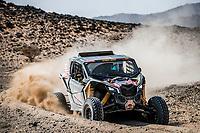 6th January 2021; Wadi Al Dawasir to Riyadh, Saudia Arabia; Dakar 2021 Rally, stage 4;  408 Jones Austin (usa), Gugelmin Gustavo (bra), Can-Am, Monster Energy Can-Am, Motul, SSV Series - T4, action during the 4th stage of the Dakar 2021 between Wadi Al Dawasir and Riyadh, in Saudi Arabia on January 6, 2021