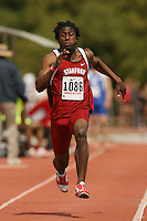 4 April 2007: Tunji Munabi during the Stanford Invitational at Cobb Track and Angell Field in Stanford, CA.