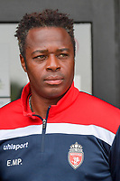 assistant coach Emile Mpenza of Royal Excelsior Mouscron pictured during a friendly soccer game between KFC Aalbeke Sport and Excelsior Mouscron  during the preparations for the 2021-2022 season , on saturday 3 of July 2021 in Aalbeke , Belgium . PHOTO DIRK VUYLSTEKE | SPORTPIX