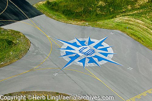 aerial photograph compass rose Petaluma airport, Petaluma, California