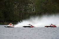 """(L to R): Jared Knelleken, A-9 , Andrew Tate, A-25 """"Fat Chance"""" and Leslie """"Poodle"""" Warren, A-36 (2.5 MOD class hydroplane(s)"""
