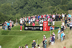 Gregory Bourdy hits his tee shot on the 17th on his way to victory in the ISPS Handa Wales Open 2013 at the Celtic Manor Resort.<br /> 01.09.13<br /> <br /> ©Steve Pope-Sportingwales