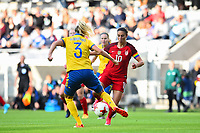Gothenburg, Sweden - Thursday June 08, 2017: Linda Sembrant, Carli Lloyd during an international friendly match between the women's national teams of Sweden (SWE) and the United States (USA) at Gamla Ullevi Stadium.
