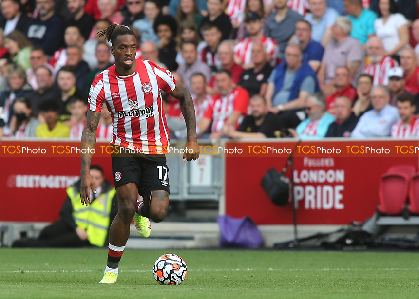Ivan Toney of Brentford in action during Brentford vs Brighton & Hove Albion, Premier League Football at the Brentford Community Stadium on 11th September 2021