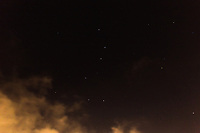 The Big Dipper, part of the constellation Ursa Major, the Great Bear, viewed from a backyard near San Francisco Bay.