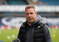 21st November 2020; The Den, Bermondsey, London, England; English Championship Football, Millwall Football Club versus Cardiff City; Former Millwall manager and now Cardiff City manager Neil Harris returns to The Den Stadium while being interviewed by Sky Sports before kick off