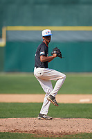 Pitcher Diorys Guerrero (17) during the Dominican Prospect League Elite Underclass International Series, powered by Baseball Factory, on August 1, 2017 at Silver Cross Field in Joliet, Illinois.  (Mike Janes/Four Seam Images)