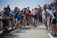 Lars Bak (DEN/Lotto-Soudal) cheered on<br /> <br /> stage 15 (iTT): Castelrotto-Alpe di Siusi 10.8km<br /> 99th Giro d'Italia 2016