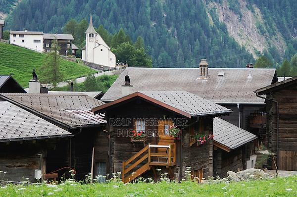 Village of Binn, Binn, Wallis, Switzerland, August 2006