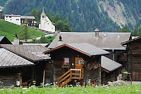 Village of Binn, Binn, Wallis, Switzerland, August 2006