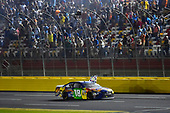 Monster Energy NASCAR Cup Series<br /> Monster Energy NASCAR All-Star Race<br /> Charlotte Motor Speedway, Concord, NC USA<br /> Saturday 20 May 2017<br /> Kyle Busch, Joe Gibbs Racing, M&M's Caramel Toyota Camry celebrates his win<br /> World Copyright: Nigel Kinrade<br /> LAT Images<br /> ref: Digital Image 17CLT1nk06426