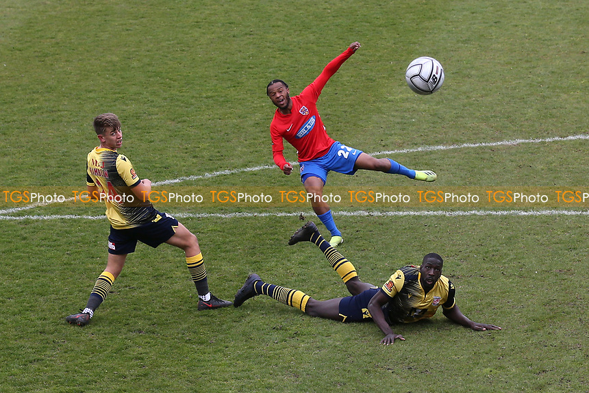 Mauro Vilhete of Dagenham and Redbridge goes close during Dagenham & Redbridge vs Woking, Vanarama National League Football at the Chigwell Construction Stadium on 3rd May 2021