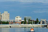 Oder (Odra) bei der Dominsel  in Wroclaw (Breslau), Woiwodschaft Niederschlesien (Województwo dolnośląskie), Polen, Europa<br /> River Oder at Cathedral Island in Wroclaw, Poland, Europe