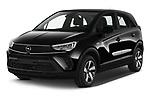 2021 Opel Crossland Edition 5 Door SUV Angular Front automotive stock photos of front three quarter view