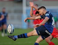 9th September 2020; AJ Bell Stadium, Salford, Lancashire, England; English Premiership Rugby, Sale Sharks versus Saracens;  Will Cliff of Sale Sharks kicks from defence