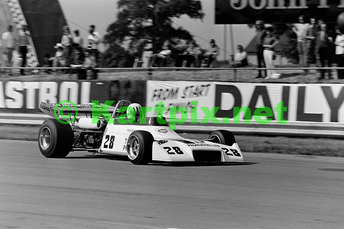 Tom Pryce's Formula Atlantic Motul M1 at the  Yellow Pages Championship round supporting the 1973 british Grand prix.