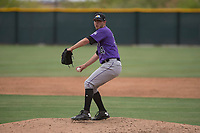 Colorado Rockies relief pitcher Jesse Lepore (34) delivers a pitch to the plate during an Extended Spring Training game against the Arizona Diamondbacks at Salt River Fields at Talking Stick on April 16, 2018 in Scottsdale, Arizona. (Zachary Lucy/Four Seam Images)