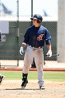 Tony Wolters #2 of the Cleveland Indians plays in an extended spring training game against the Seattle Mariners at the Indians minor league complex on May 14, 2011  in Goodyear, Arizona. .Photo by:  Bill Mitchell/Four Seam Images.