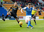 St Johnstone v Partick Thistle…28.04.18…  McDiarmid Park    SPFL<br />Liam Craig shoots over the bar<br />Picture by Graeme Hart.  <br />Copyright Perthshire Picture Agency<br />Tel: 01738 623350  Mobile: 07990 594431