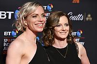 Kate and Helen Richardson-Walsh<br /> arriving for the BT Sport Industry Awards 2018 at the Battersea Evolution, London<br /> <br /> ©Ash Knotek  D3399  26/04/2018