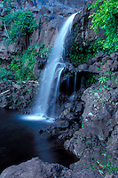 Waterfall at Oheo Gulch near Hana, Maui, Hawaii, USA.
