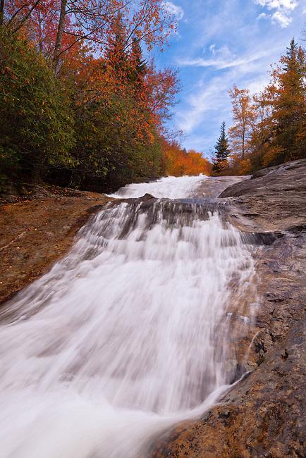 Autumn along Bubbling Springs Branch Cascades, Pisgah National Forest