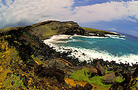 The only Green sand beach found on the Big Islands southern most tip gets it's name from the rare olivine crystals that make up it's sand