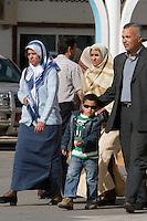 Tripoli, Libya, North Africa - Libyan Family at International Trade Fair.  Clothing Styles.