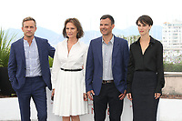 JEREMIE RENIER, JACQUELINE BISSET, DIRECTOR FRANCOIS OZON AND MARINE VACTH - PHOTOCALL OF THE FILM 'L'AMANT DOUBLE' AT THE 70TH FESTIVAL OF CANNES 2017