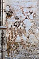 Europe/Europe/France/Midi-Pyrénées/46/Lot/Rocamadour: Cité Religieuse _ Fresque de la Chapelle Notre-Dame représentation de la Mort