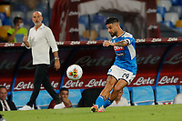 Lorenzo Insigne of Napoli  during the  italian serie a soccer match,  SSC Napoli - AC Milan       at  the San  Paolo   stadium in Naples  Italy , July 12, 2020