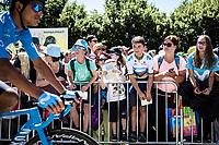 Movistar admiration kids. <br /> <br /> Stage 5: Saint-Dié-des-Vosges to Colmar (175km)<br /> 106th Tour de France 2019 (2.UWT)<br /> <br /> ©kramon