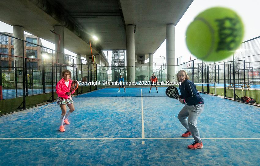 Amsterdam, Netherlands, 9  December, 2020, Padel Photoshoot<br /> Photo: Henk Koster/tennisimages.com