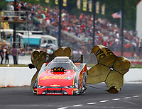 May 5, 2018; Commerce, GA, USA; NHRA funny car driver Courtney Force during qualifying for the Southern Nationals at Atlanta Dragway. Mandatory Credit: Mark J. Rebilas-USA TODAY Sports