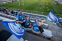 3rd April 2021; Eden Park, Auckland, New Zealand;  Fans before the Super Rugby Aotearoa rugby match between the Blues and the Hurricanes held at Eden Park, Auckland, New Zealand.
