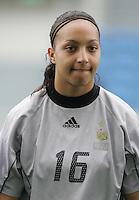MAR 15, 2006: Faro, Portugal:  Sarah Bouhaddi