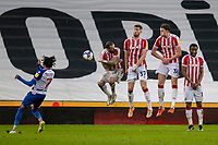6th February 2021; Bet365 Stadium, Stoke, Staffordshire, England; English Football League Championship Football, Stoke City versus Reading; Michael Olise of Reading takes a direct free kick over the Stoke wall