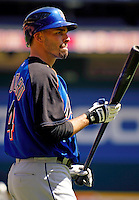 11 April 2006: Chris Woodward, infielder for the New York Mets, waits his turn during batting practice prior to the Washington Nationals' Home Opener at RFK Stadium, in Washington, DC. The Mets defeated the Nationals 7-1 to maintain their lead in the NL East...Mandatory Photo Credit: Ed Wolfstein Photo..