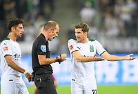 Jonas HOFMANN r. (MG) and Lars STINDL l. (MG) at referee Marco FRITZ, complain, Soccer 1. Bundesliga, 01.matchday, Borussia Monchengladbach (MG) - FC Bayern Munich (M) 1: 1, on 08/13/2021 in Borussia Monchengladbach / Germany. #DFL regulations prohibit any use of photographs as image sequences and / or quasi-video # Â
