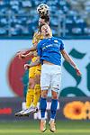 20.02.2021, xtgx, Fussball 3. Liga, FC Hansa Rostock - SV Waldhof Mannheim, v.l. Marco Schuster (Mannheim, 6), Bentley Baxter Bahn (Hansa Rostock, 8) Zweikampf, Duell, Kampf, tackle <br /> <br /> (DFL/DFB REGULATIONS PROHIBIT ANY USE OF PHOTOGRAPHS as IMAGE SEQUENCES and/or QUASI-VIDEO)<br /> <br /> Foto © PIX-Sportfotos *** Foto ist honorarpflichtig! *** Auf Anfrage in hoeherer Qualitaet/Aufloesung. Belegexemplar erbeten. Veroeffentlichung ausschliesslich fuer journalistisch-publizistische Zwecke. For editorial use only.