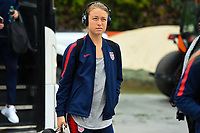 Houston, TX - Sunday April 8, 2018: Emily Sonnett during an International friendly match versus the women's National teams of the United States (USA) and Mexico (MEX) at BBVA Compass Stadium.