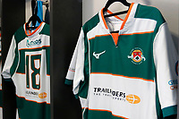 A general view of the Ealing Trailfinders RFC kit during the Championship Cup Quarter Final match between Ealing Trailfinders and Nottingham Rugby at Castle Bar , West Ealing , England  on 2 February 2019. Photo by Carlton Myrie / PRiME Media Images.