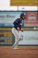 Binghamton Rumble Ponies Ali Sanchez (20) leads off second base during an Eastern League game against the Richmond Flying Squirrels on May 29, 2019 at The Diamond in Richmond, Virginia.  Binghamton defeated Richmond 9-5 in ten innings.  (Mike Janes/Four Seam Images)