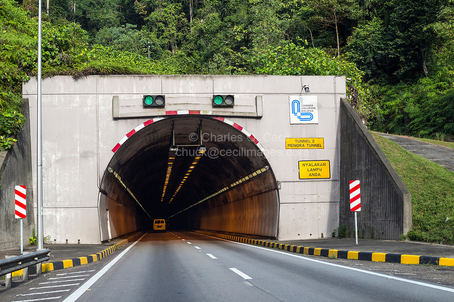 Malaysia.  Approaching Tunnel on Highway AH2 between Ipoh and Taiping.