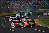 Monster Energy NASCAR Cup Series<br /> Coca-Cola 600<br /> Charlotte Motor Speedway, Concord, NC USA<br /> Sunday 28 May 2017<br /> Kyle Busch, Joe Gibbs Racing, M&M's Red, White & Blue Toyota Camry, Martin Truex Jr, Furniture Row Racing, Bass Pro Shops/TRACKER BOATS Toyota Camry<br /> World Copyright: John K Harrelson<br /> LAT Images<br /> ref: Digital Image 17CLT2jh_05359