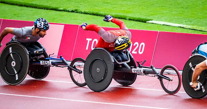 Austin Smeenk, Tokyo 2020 - Para Athletics // Para-athlétisme.<br /> Austin Smeenk competes in the men's 800m T34 heats // Austin Smeenk participe aux épreuves masculines du 800 m T34. 03/09/2021.