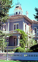 "Modesto CA:  Oramil McHenry House, c. 1875. 906 15th St.--home of Modesto's ""most distinguished citizen""."