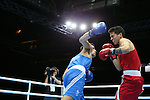 Glasgow 2014 Commonwealth Games<br /> Men's Light Heavy (81kg)<br /> Nathan Thorley, Wales (Blue) v Benjamin Taualii, Tonga (Red)<br /> 27.07.14<br /> ©Steve Pope-SPORTINGWALES